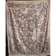 Retro Dungeon Map Plush Throw Blanket