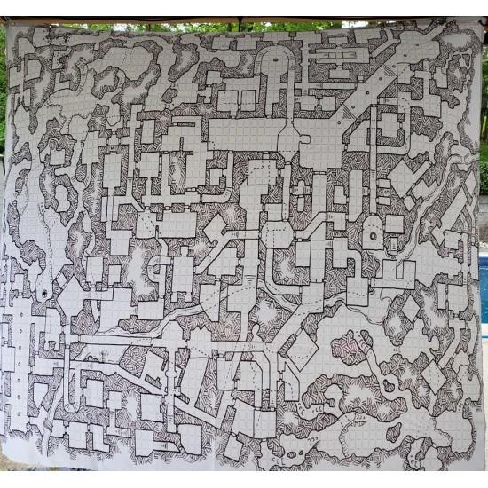 Retro Dungeon Map Shower Curtain