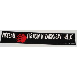 Hello, Fireball Bumber Sticker
