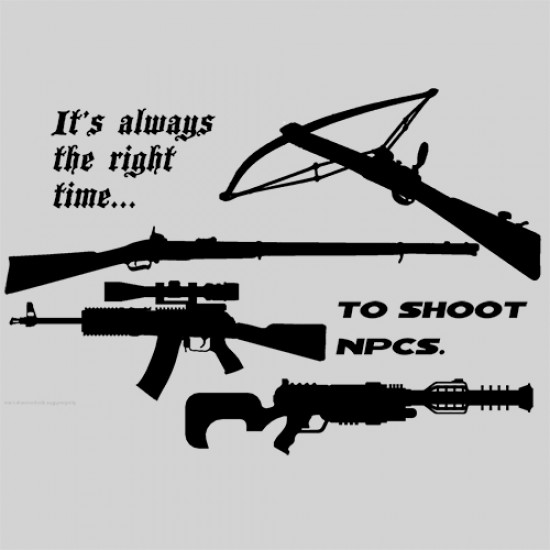 Shooting NPC's Shirt